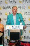 Miami Dolphins legendary QB Bob Griese welcomes the American Invitational to Sun Life Stadium.