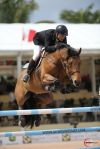 Zetterman and Waterford jumping to a second place finish in the Suncast 1.50m National Grand Prix at the 2016 Winter Equestrian Festival (WEF) Week Eight.